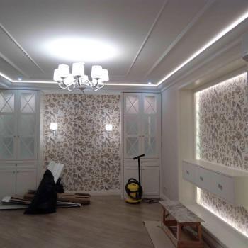 Установка светильников, люстр, бра, светодиодной ленты